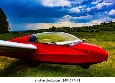 Sailplane Glider from above and side
