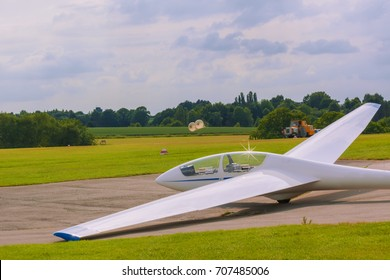 Sailplane on the airfield