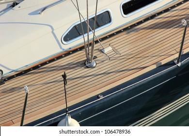 Sainling boat  close up