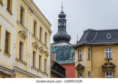 Saint Adalbert Church of Benedictine Monastery in Broumov town in Czech Republic