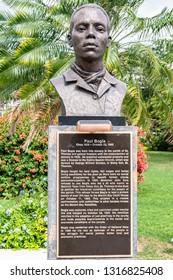 Saint Andrew, Jamaica - February 05 2019: Statue/Sculpture of Jamaican Baptist Deacon and National Hero Paul Bogle