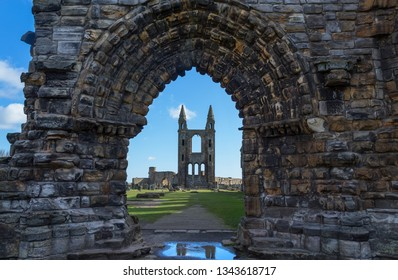 Saint Andrew's cathedral, ruined Roman Catholic cathedral in St Andrew, Fife, Scotland