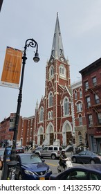 Saint Anthony of Padua and Saint Alphonsus Church in Greenpoint of Brooklyn in New York City,  June 1st, 2019.