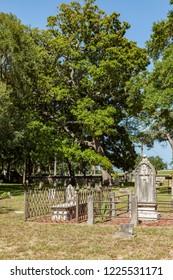 SAINT AUGUSTINE, USA - JULY 23, 2010: old huguenot historic cemetery in Sankt Augustine, USA.