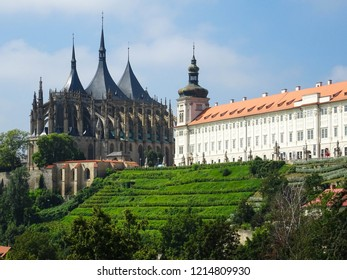 Saint Barbara church in Kutná Hora city (Czech Republic), famous gothic church in Cenral Europe