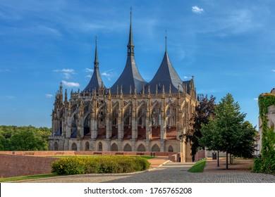 Saint Barbara's Cathedral, Church, Czech: Chram svate Barbory, is a Roman Catholic church in Kutna Hora, Bohemia, UNESCO WORLD HERITAGE,Czech Republic - Shutterstock ID 1765765208