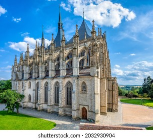 Saint Barbara's Cathedral, Church, Czech: Chram svate Barbory, is a Roman Catholic church in Kutna Hora, Bohemia, UNESCO WORLD HERITAGE,Czech Republic - Shutterstock ID 2032930904