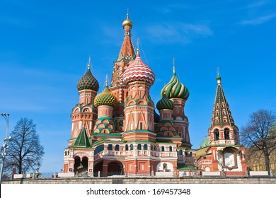 Saint Basil Cathedral at Red Square, Moscow Kremlin, Russia.
