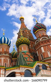 Saint Basil Temple in Moscow Red Square