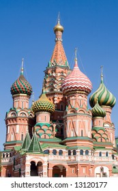 Saint Basil's Cathedral Church in Moscow