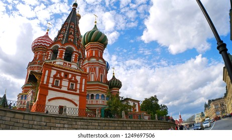 Saint Basil's Cathedral or Cathedral of the Intercession of the Most Holy Theotokos on the Moat in Red Square, Moscow, Russia
