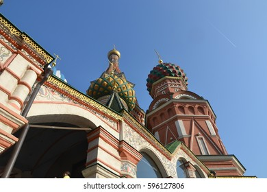 Saint Basil's Cathedral in Moscow, Russia, at the Red Square