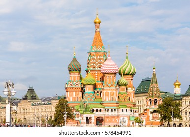 Saint Basil's Cathedral in Moscow surroundings