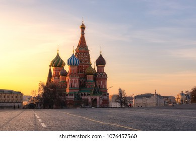 Saint Basil's Cathedral at Red Square in Moscow,Russia.
