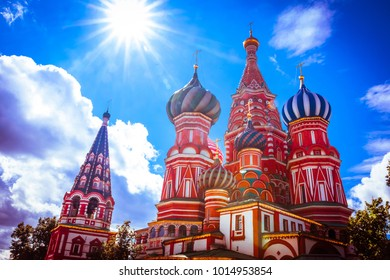 Saint Basil's Cathedral symbolic of Moscow, Russia.