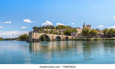 Saint Benezet bridge in Avignon in a beautiful summer day, France