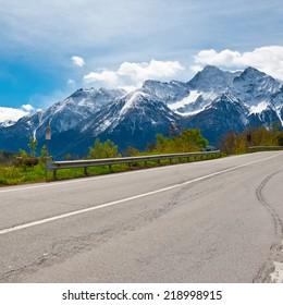 Saint Bernard Pass in the Italian Alps