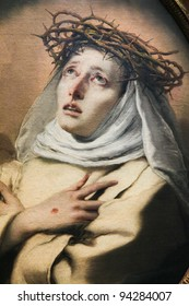 Saint Catherine of Siena, painting by Giambattisto Tiepolo created in 1746. Saint Catherine is a famous catholic saint.