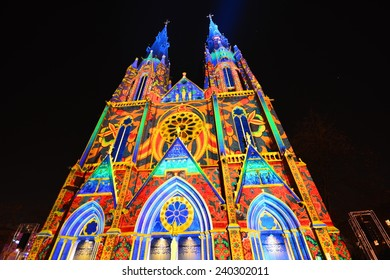 Saint Catherine's Church at Eindhoven - The Glow festival