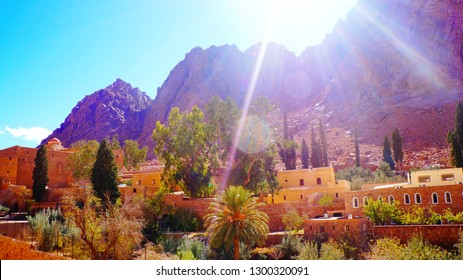 Saint Catherine's Monastery at the foot of Mount Sinai, Sinai Peninsula, Egypt, Middle east