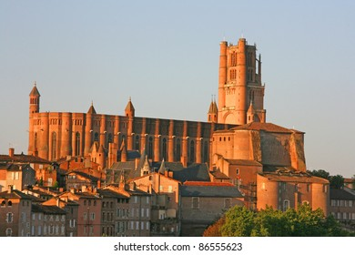 Saint Cecile Cathedral, Albi, France. overlooking the Tarn River