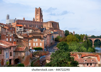 The Saint Cecile church in Albi, France. Horizontal shot