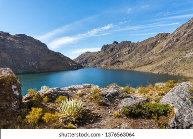 Saint Christ Lake, the largest lake in all of the venezuelan Andes mountains