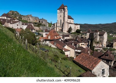 Saint Cirq Lapopie , village of french