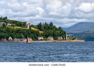 Saint Columbas Church of Scotland on the River Clyde, near Greenock, Scotland.