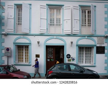 Saint Denis, Reunion Island - September 27, 2011: A quaint and typical house in the capital city of St Denis in Reunion