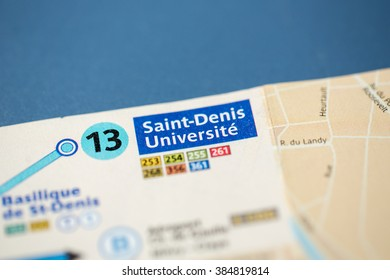 Saint Denis Universite Station. 13th Line. Paris. France