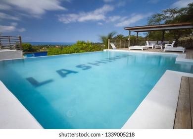 SAINT ELIZABETH, JAMAICA-MARCH 10, 2019: LUXURIOUS VILLA IN TREASURE BEACH