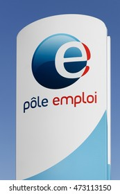 Saint Etienne, France - August 17, 2016: Pole emploi is a French governmental agency which registers unemployed people, helps them find jobs and provides them with financial aid