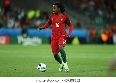 SAINT ETIENNE- FRANCE,  J UNE 2016 :  Sanches  in action during football match  of Euro 2016  in France between Portugal vs Island at the stade geoffroy guichard on June 14, 2016 in Saint Etienne