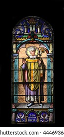 Saint Eugenius, stained glass in the Cathedral of St Vincent de Paul in Tunis