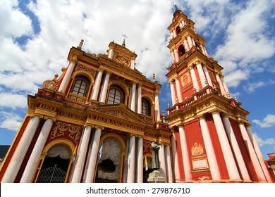 The Saint Francis Church in the city of Salta, Salta, Argentina.