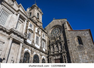 Saint Francis church (on right) and  Third Order of St. Francis church in Porto city, Portugal