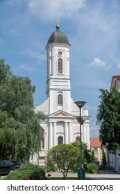Saint Gabriel's church located in Veliko Gradiste town - Serbia
