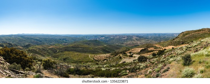 Saint Gabriel's Church viewpoint surrounding landscape, Vila Nova de Foz Coa, Portugal.