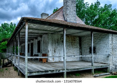 Saint Genevieve, Missouri, USA, Beauvais-Amoureux House; Amoureux House built  in 1792, May 29, 2015