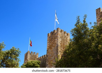 saint george castle tower in the city of lisbon