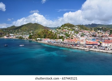 Saint George city port in Grenada, Caribbean