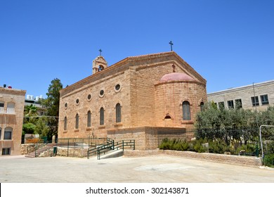 Saint George Greek Orthodox Church in Madaba, Jordan.