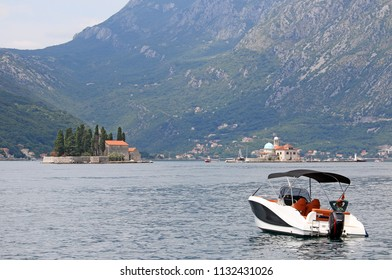 Saint George and Our Lady of the Rocks islands Perast Bay of Kotor Montenegro