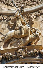 Saint George statue in a church of Majorca (Spain) (Pla���§a de Sant Francesc)