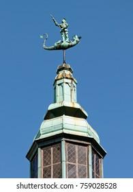 Saint George weather vane in Gdansk in Poland