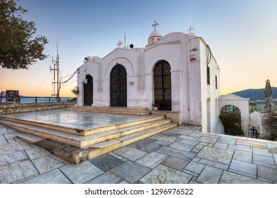 Saint George's chapel on top of Mount Lycabettus in Athens
