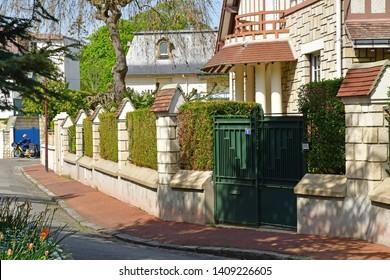 Saint Germain en Laye; France - april 18 2019 : the picturesque city centre