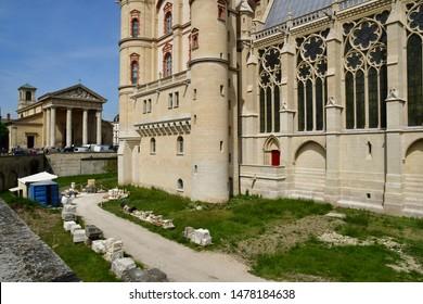 Saint Germain en Laye; France - april 20 2019 : restoration of the renaissance castle