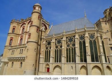 Saint Germain en Laye; France - april 20 2019 : the renaissance castle